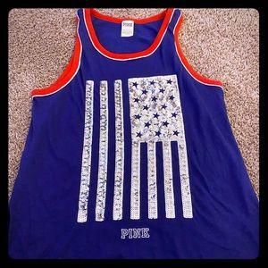 PINK VS** American Flag Tank